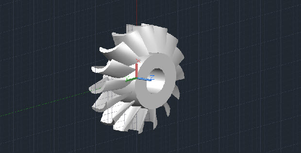 3d Turbine 3D AutoCAD Drawing