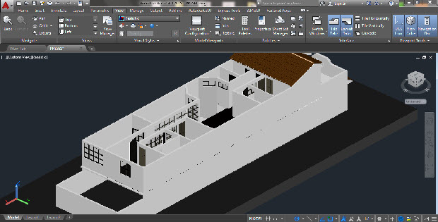 3d Modeling Family House Autocad Drawing Cadsample Com