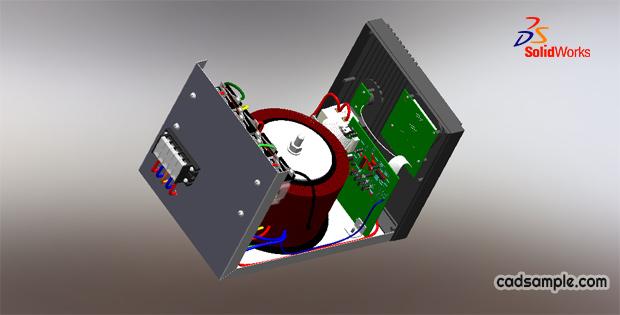5Kw-Voltage-Regulator-3D-Modeling-Solidworks