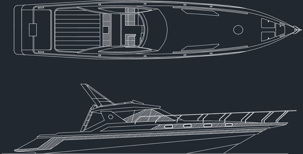 Detailed Drawings of Sea Yacht