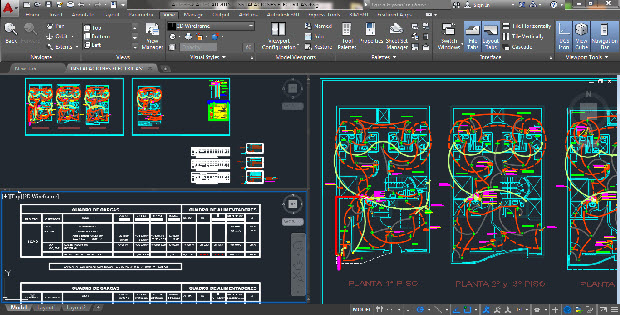 Health and electrical installations hotel AUTOCAD DRAWING