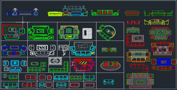 Home Furnishing of AutoCAD 2d