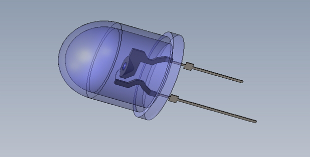 Led Diode 3D Solidworks Drawing