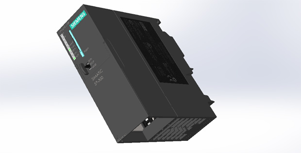 Siemens-Simatic-S7-300-Solidworks-3D-DRAWİNGS-1