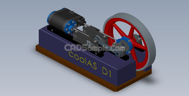 Steam Engine 3D Solidworks Drawings