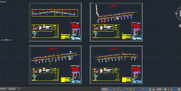 Street Lighting Electrical Installation Autocad Drawing on One Line Electrical Symbols