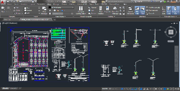 Street lighting plane Autocad Drawing & Street Lighting Plane Autocad Drawing » CADSample.Com
