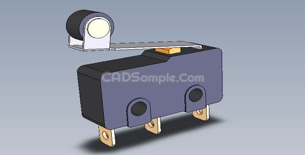 Two Position Microswitch 3D Solidworks Drawings