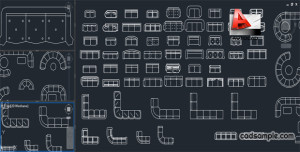 AutoCAD-Blocks-of-Sofas