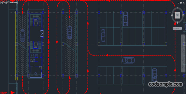 Car Parking Autocad Drawing 2 187 Cadsample Com