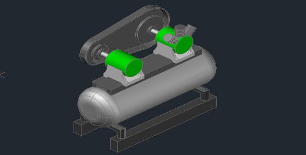 Compressor 3d in AUTOCAD Free 3D Dwg