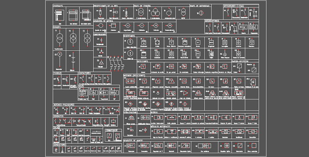 Electrical Wiring Diagram Symbols Autocad : Electrical symbols free dwg in autocad cadsample