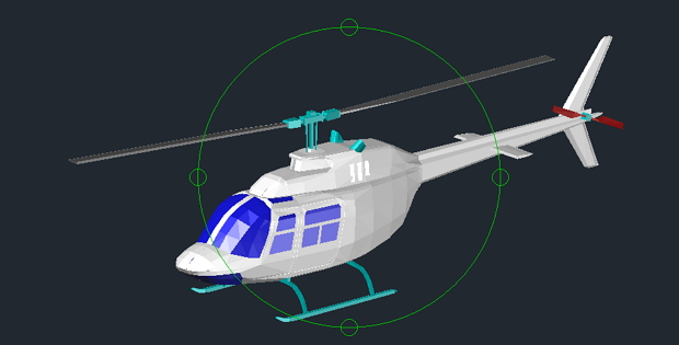 Helicopter 3D Free DWG