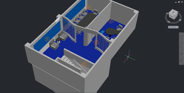 Office plant in 3d free dwg cadsample com for Plante 3d dwg