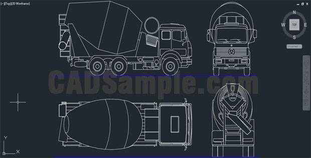 Reinforced-Concrete-Trucks-AutoCAD-Drawing