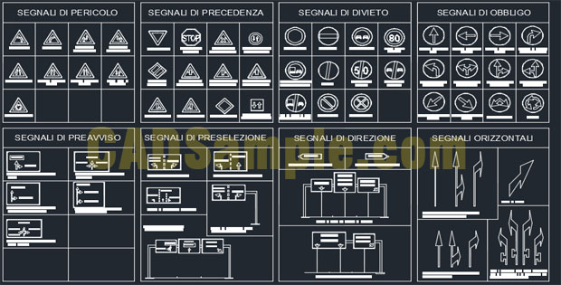 Road-Sign-AutoCAD-DWG-Drawings