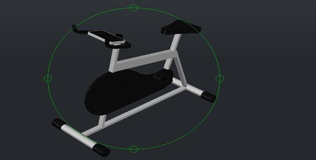 Stationary bike 3d Free DWG