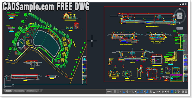 Swimming Pool FREE DWG » CADSample Com