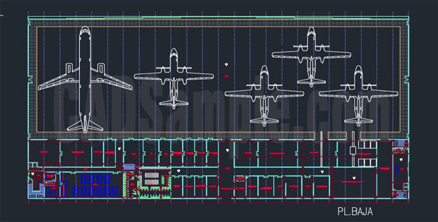 Hangar Free Dwg 187 Cadsample Com