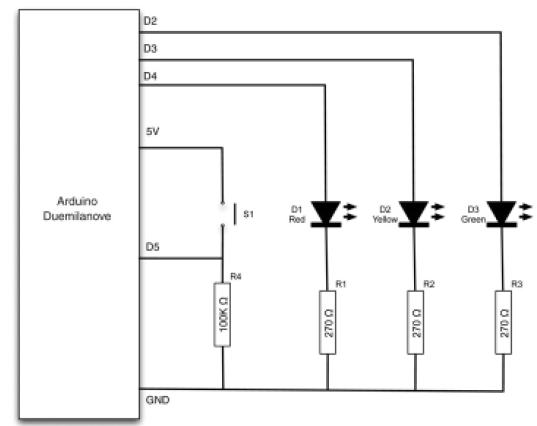 Arduino project model traffic signal cadsample