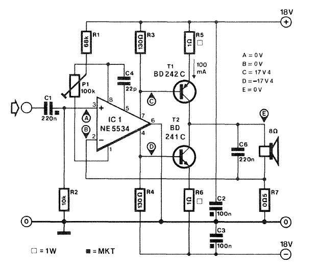 Current Corrected Af Amplifier