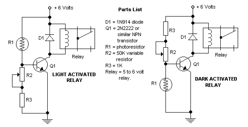 Dark Light Activated Relay » CADSample.Com