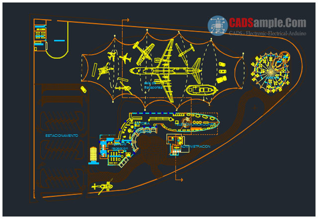 Air Port Design Study Dwg CADSampleCom - Port design