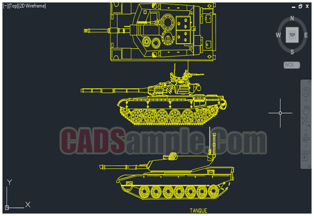 Autocad Drawing Of Tank Cad Block Dwg on drawing a car door