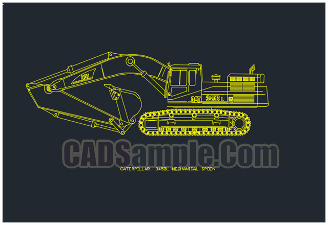 CATERPILLAR-345BL-MECHANICAL-SPOON-cad-block