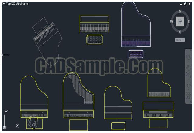 Cad-block-piano-cad-piano