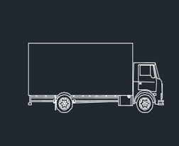 Carrier Truck Cad Block Sample DWG » CADSample Com