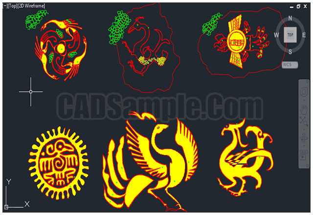 Chinese-symbol-decoration-cad-block