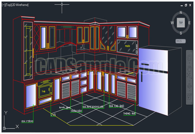 Front Elevation Autocad File Free Download : Kitchen cupboard furniture cad block dwg cadsample