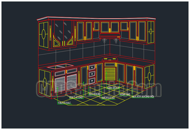 Kitchen Cabinets Cad Drawings DWG » CADSample.Com