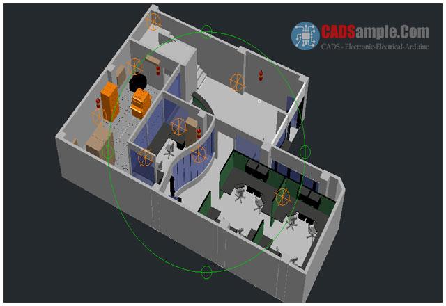 Office-Plants-Autocad-3d-Modelling