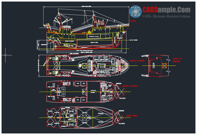 Sail-Boat-AutoCAD-DWG-Drawing