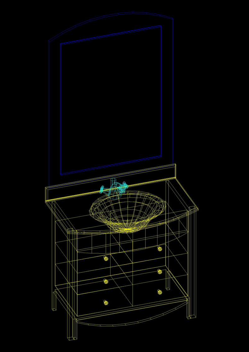 Autocad 3d House Design Software: Vanity Sink 3D Autocad Free DWG Drawing » CADSample.Com