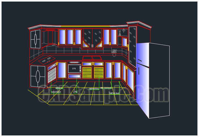 Cad block kitchen cabinet dwg cadsample com for Autocad kitchen cabinets