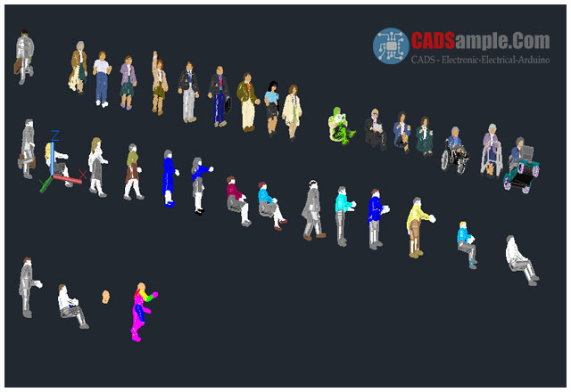 3d people autocad model dwg cadsample com for 3d drawing online free