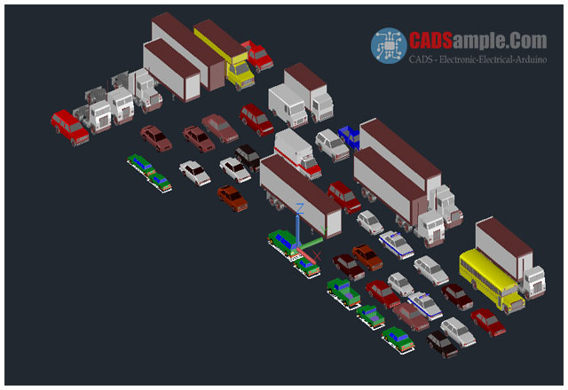 3d vehicles autocad model dwg cadsample com Cad models