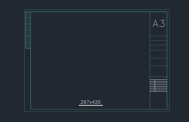 Autocad-A3-Drawing-Frame