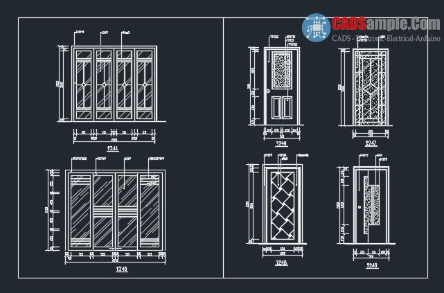 Door detail block autocad dwg 1 cadsample com for Door design cad