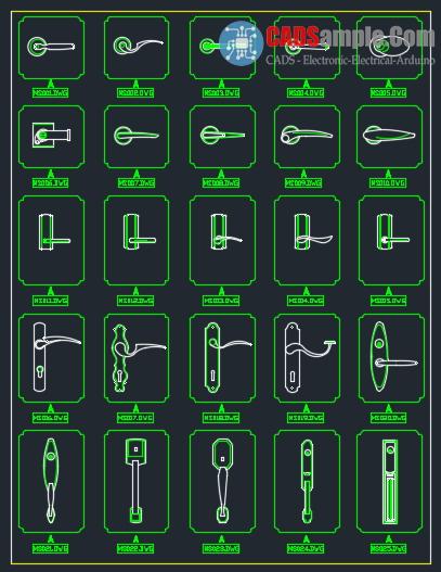 Doorknob-Decoration-Cad-Drawings