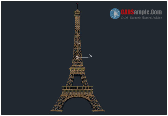Historical Building Eiffel Tower Dwg