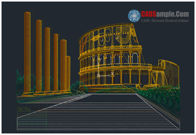 Historical-Building-Roman-Coliseum-DWG