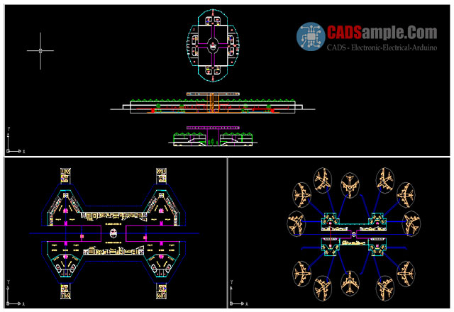 International-Airport-Free-DWG-with-Aircraft-Control-Tower