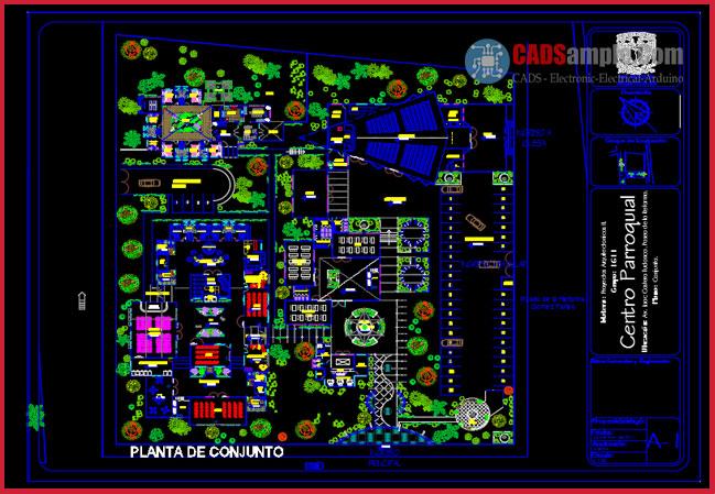 Parish-Center-with-AutoCAD-DWG-Architectural-Plants2