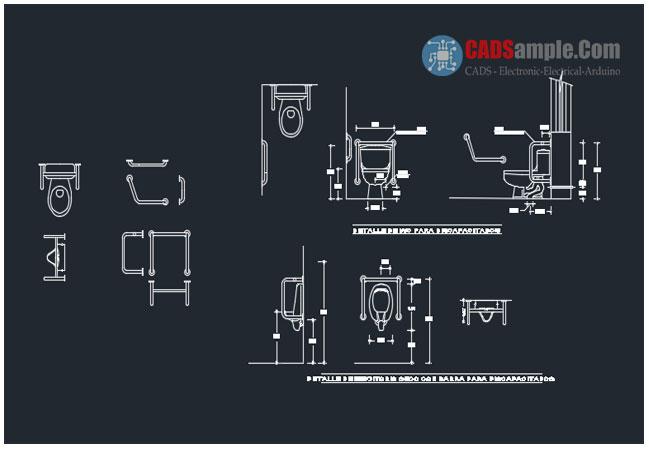 Toilets Detail Autocad Dwg 187 Cadsample Com