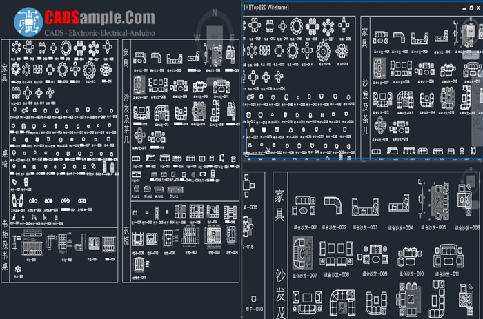 Furniture Free Cad Module Dwg 187 Cadsample Com