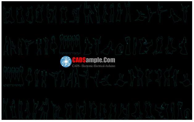 People-Silhouettes-Dancing-Dwg-Blocks
